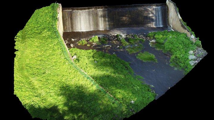 Oyster River Reservoir Dam (Lower Altitude) 3D Model