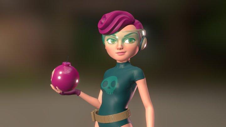 Rose the bomber 3D Model