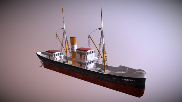 Bandırma vapuru 3D Model