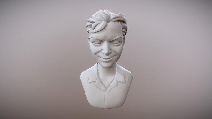 Stylized Dude Bust 1 3D Model