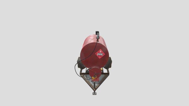 Mobile Gas Tank 3D Model