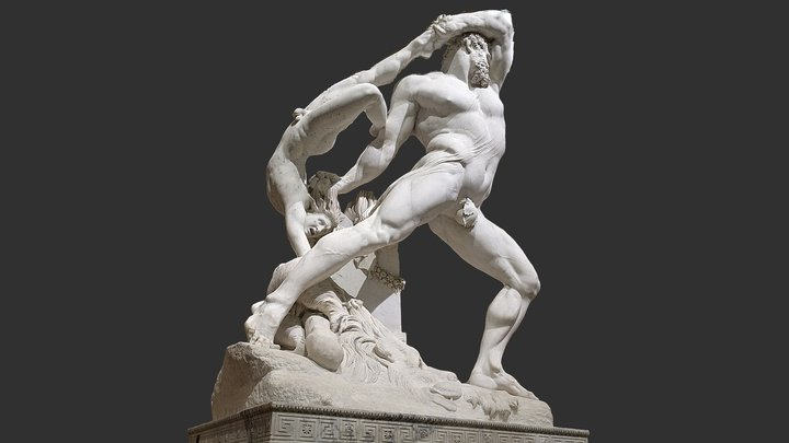 Hercules and Lichas 3D Model