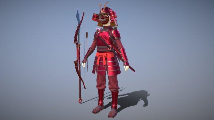 Samurai famale armor 3D Model