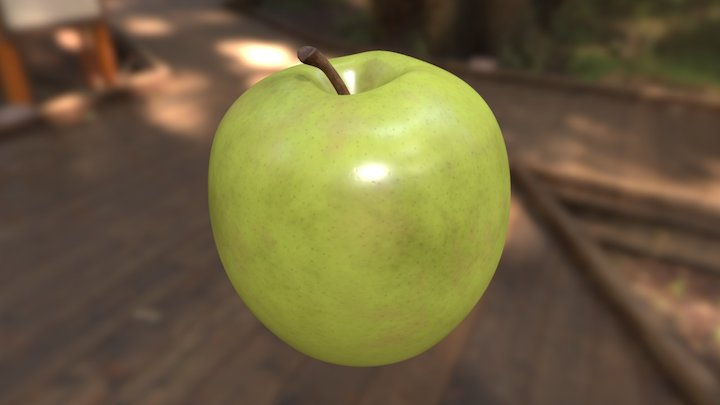 Green Apple (Downloadable) 3D Model