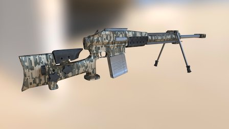 SR 100 Sniper Rifle 3D Model