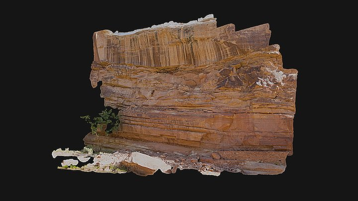 Hickman Bridge Trail-Head - Rockfall Area 3D Model