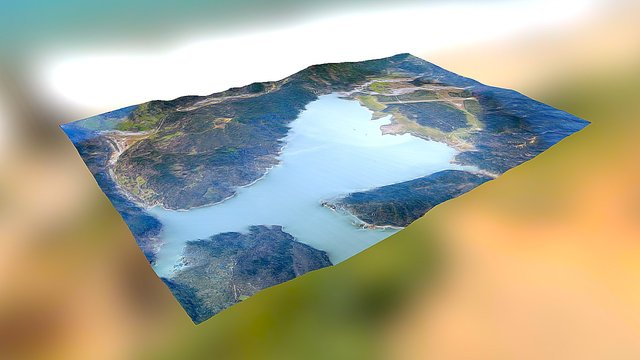 Lake Pillsbury - California, USA 3D Model