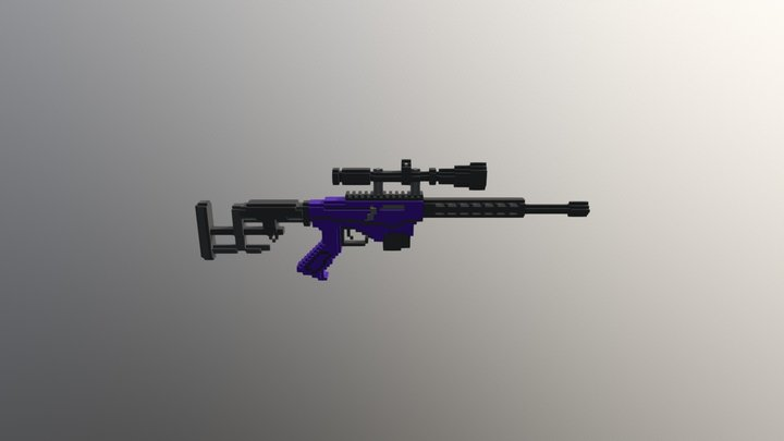 Ruger Precision Rifle Tactical cal.308 -128- 3D Model