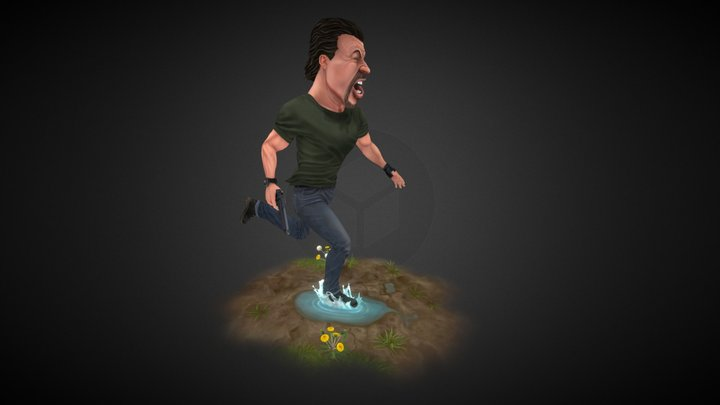 Sylvester Stallone - Expendables 3D Model