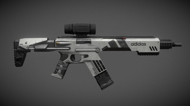Adidas ACR-2099 Assault RIfle 3D Model
