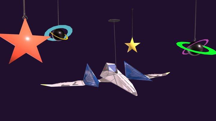 Starfox Arwing 3D Model