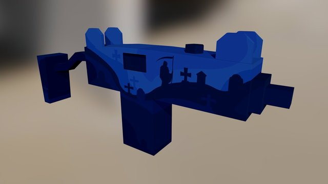 Bulldog   Death 3D Model