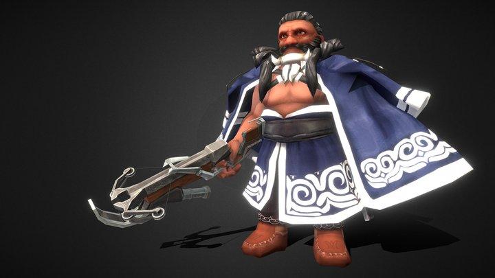 Ainu Dwarf 3D Model
