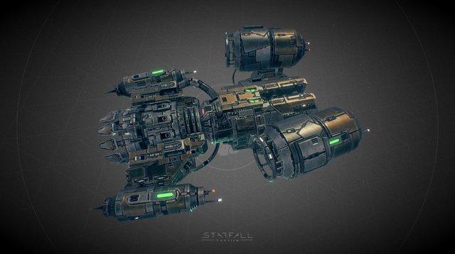 Starfall Tactics — Solomon Deprived battleship 3D Model