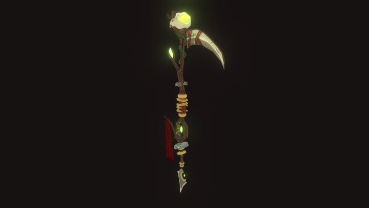 Warlock Staff 3D Model