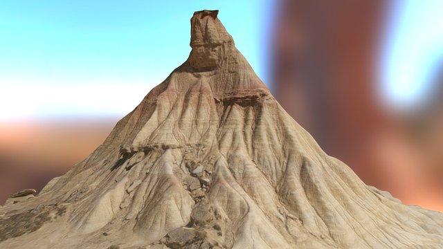 Cabezo de Castildetierra, Bardenas Reales, Spain 3D Model
