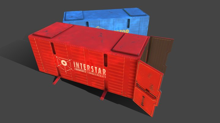 Freight Containers 3D Model