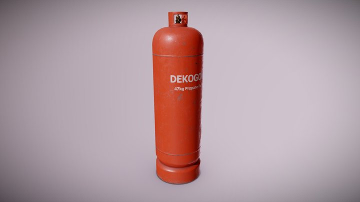 CON - Tall Gas Canister - PBR Game Ready 3D Model
