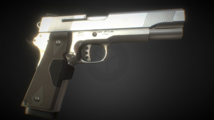 Handgun Animation 3D Model