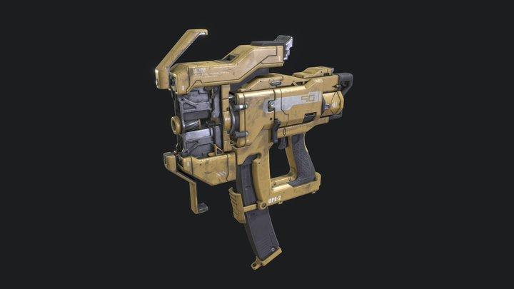 Electromagnetic Nail Gun 3D Model