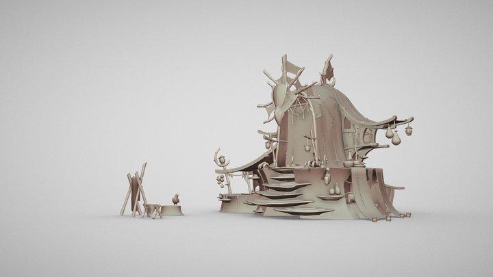 Shaman's Shack 3D Model