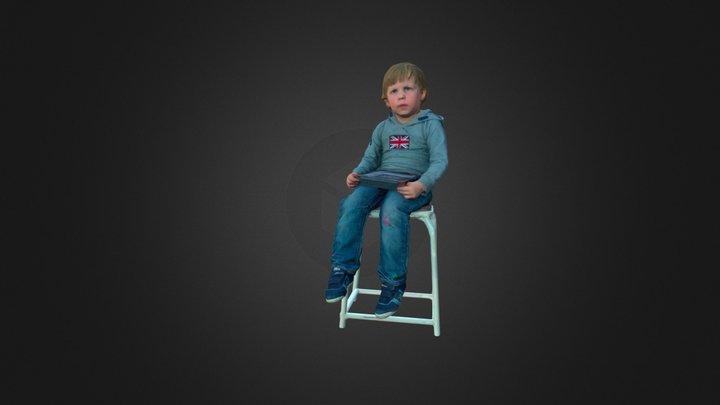 Hugo_sitting 3D Model