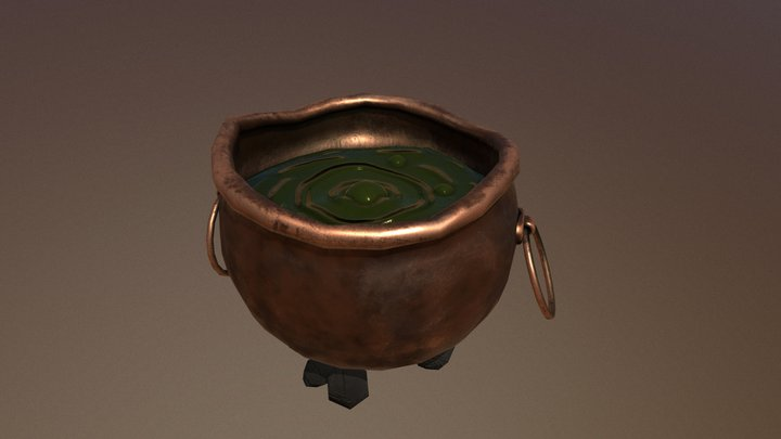 Hot pot - lowpoly model free for download 3D Model