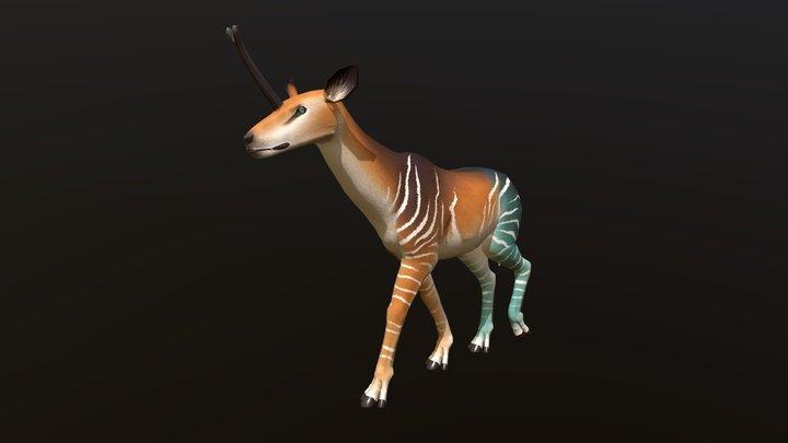 Castorian Unicorn - Walk 3D Model