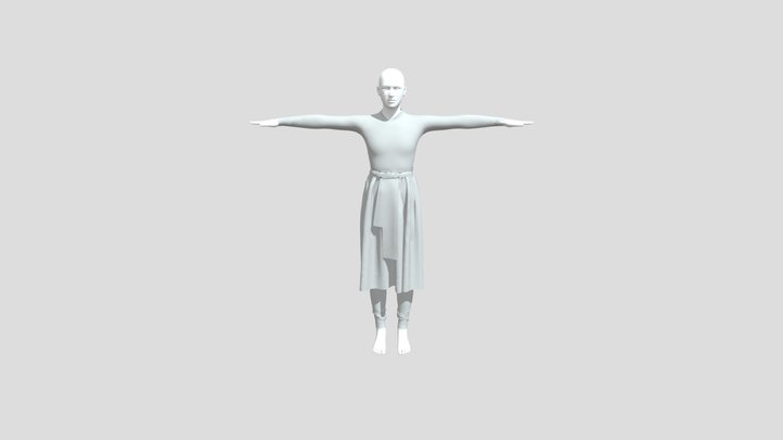 Young King Dress 3D Model