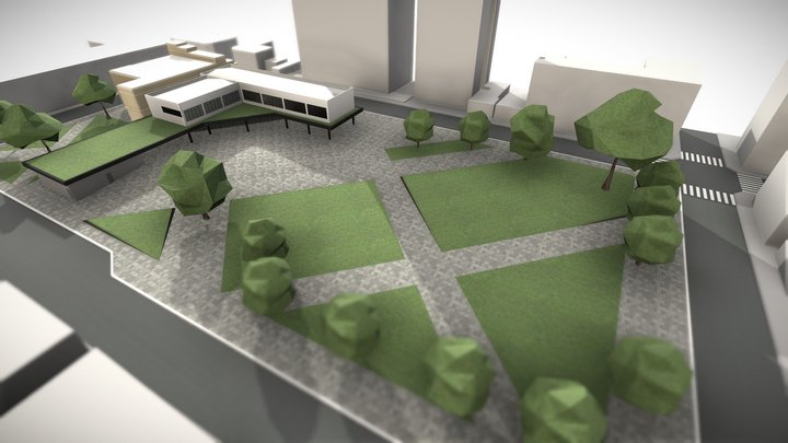 Edifício Educacional   Educational Building 3D Model