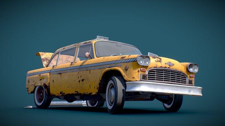 Old Sedan 3D Model