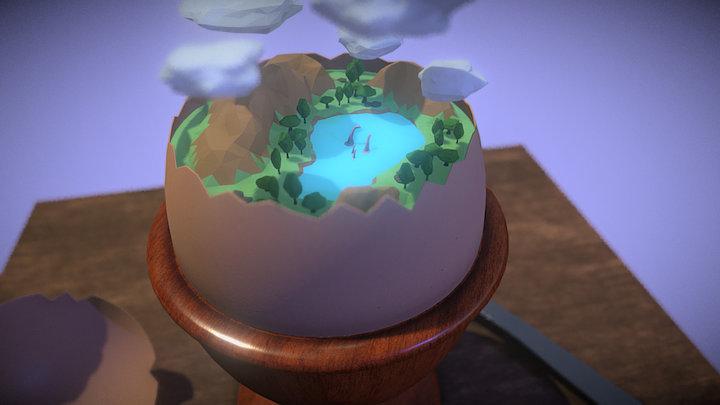 Eat an egg, find a new world 3D Model