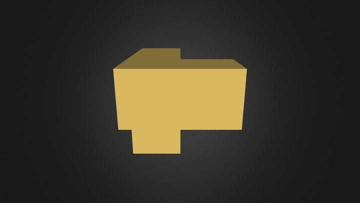 gold puzzle cube piece 3D Model
