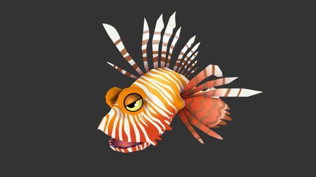 Cartoon Lion Fish 3D Model