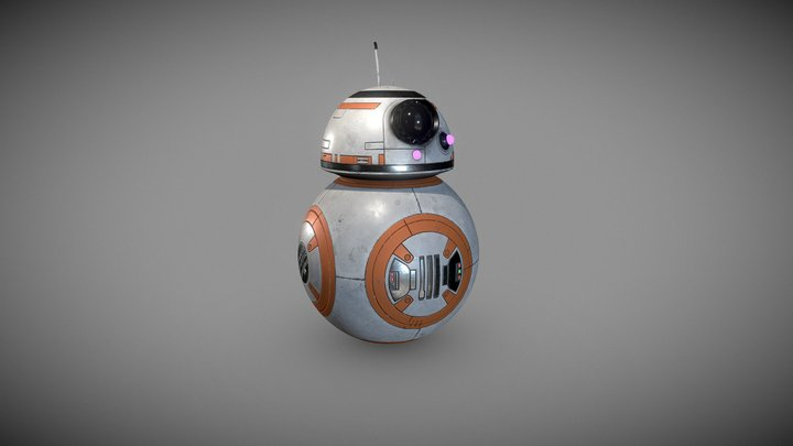bb08 Star Wars fan Art 3D Model