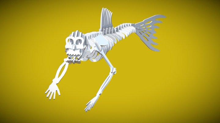 Fiji Mermaid Complete 3D Model
