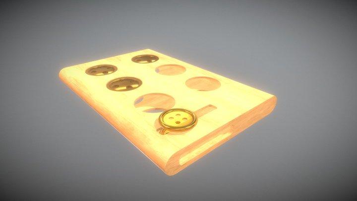 Replacement button case - wood 3D Model