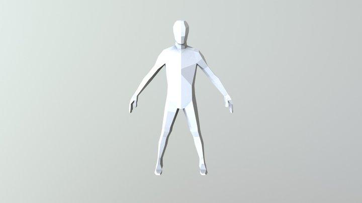 Low poly male base mesh 3D Model
