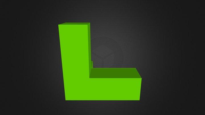 Puzzle Cube Green Website 3D Model
