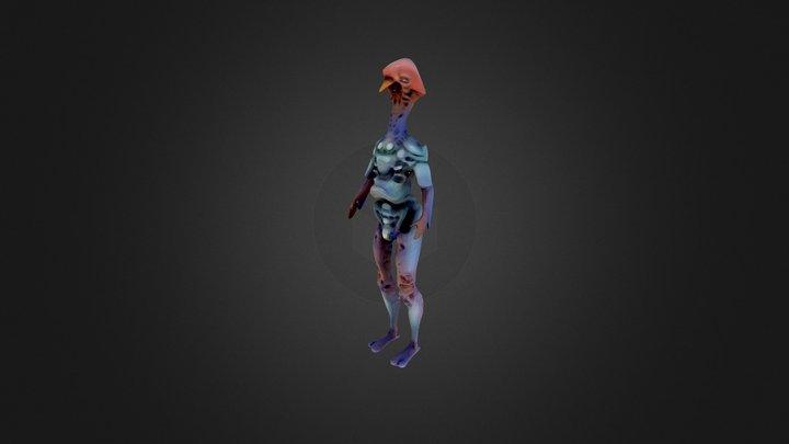 Alien Low 3D Model