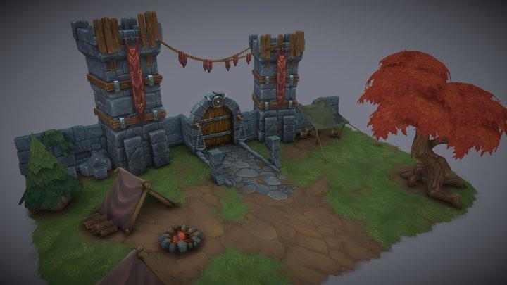 Main Gate 3D Model