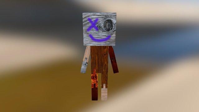 Wood Guy 3D Model