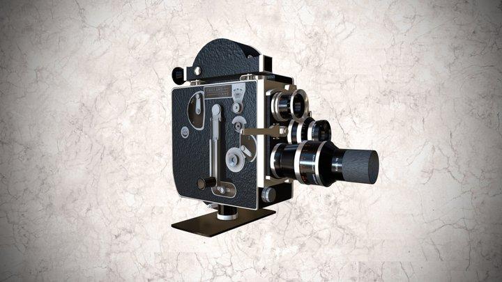 Cámara cinematográfica Paillard Bolex, 16mm v2 3D Model