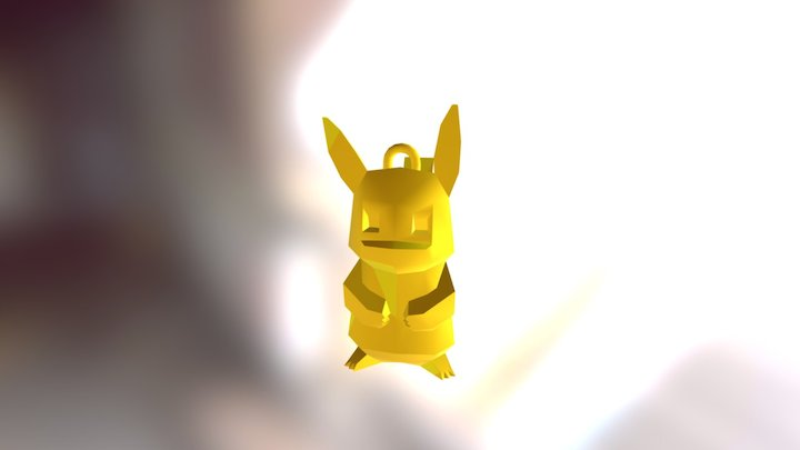 Pikachu Porte Clef 3D Model