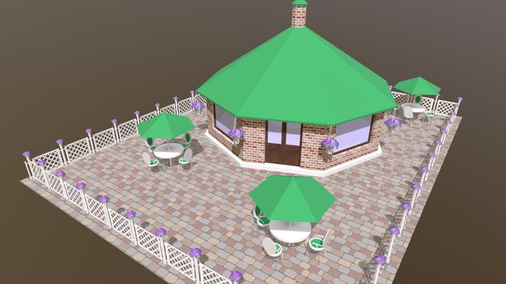 Coffee House 3D Model