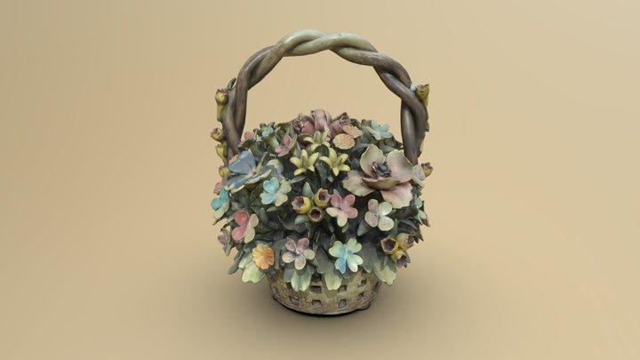 Capodimonte porcelain Flowers 3D Model