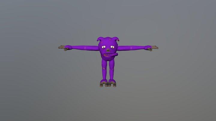 Neem Monkey 3D Model