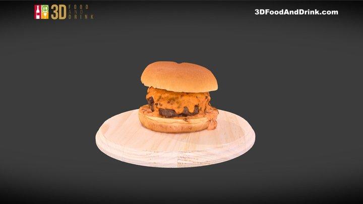 Sriracha Manchego Burger 3D Model
