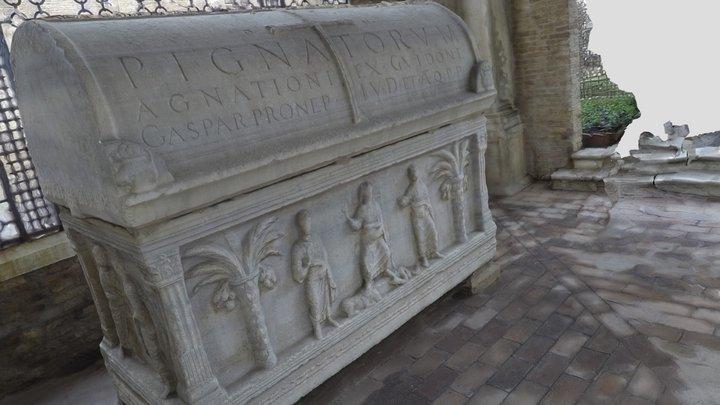 Stone Sarcophagus (Ravenna, Italy) 3D Model
