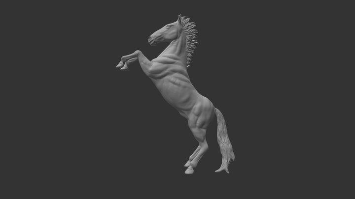 Rearing Horse 3D Model